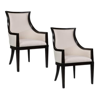 Sarreid Ltd. Parisian Umbria Finished Arm Chairs - A Pair