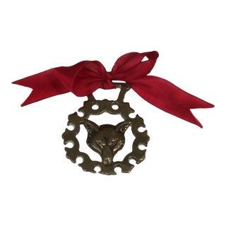 Antique English Horse Brass Fox Ornament