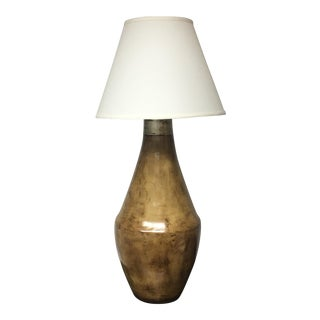 Ceramic Brown Table Lamp With Shade