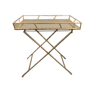 Gold Folding Side Table