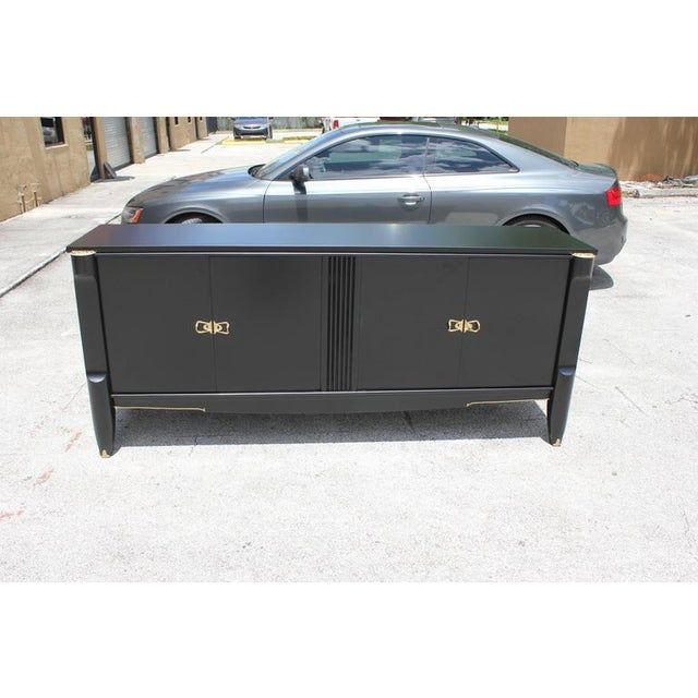 French Art Deco Ebonized Sideboard / Buffet / Bar - Image 3 of 10