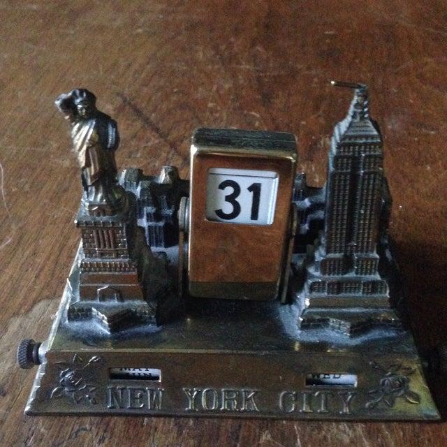 Vintage Brass Nyc Perpetual Desk Calendar - Image 2 of 11