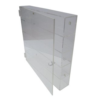 Thick Modernist Lucite Display Cabinet Shelf