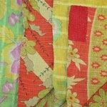 Image of Vintage Red & Green Kantha Quilt