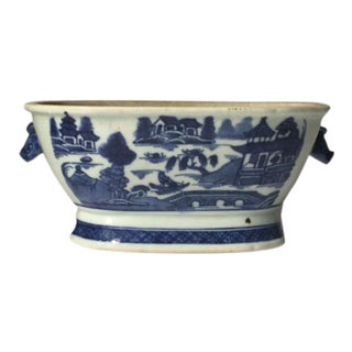 Classic Chinese Export Canton Small Blue and White Bowl