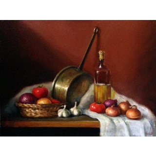 Vegetables Still Life Oil Painting by Yana Golikova