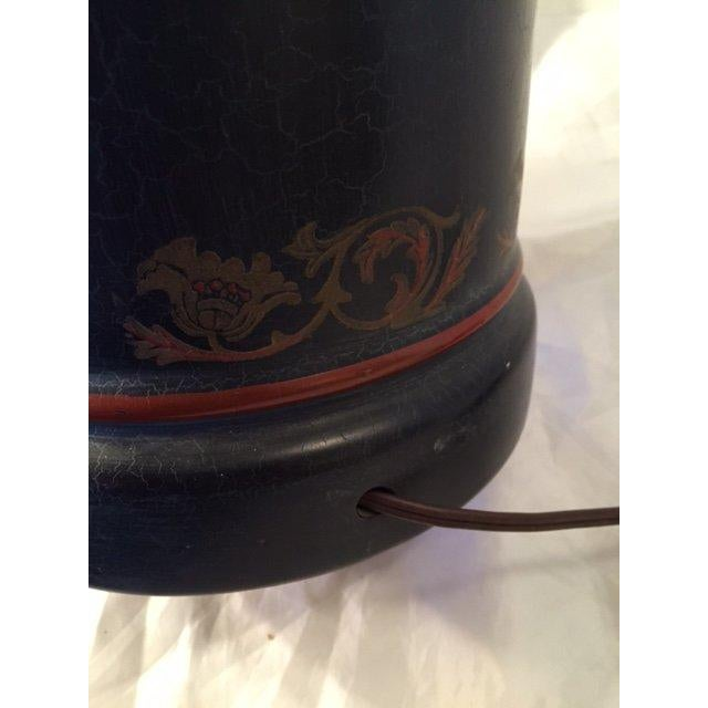 Image of Black Chinoiserie Style Table Lamp