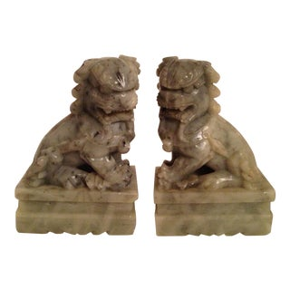 Asian Foo Dog Bookends - A Pair