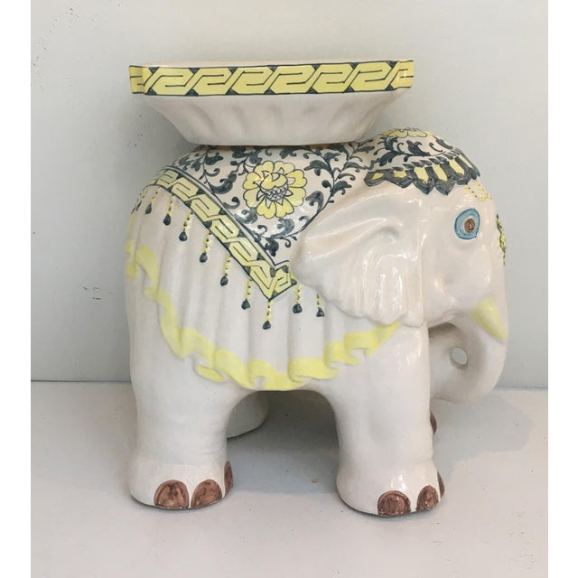 Elephant Garden Stool Side Table - Image 2 of 7