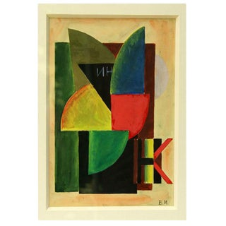 Vladimir Lebedev Cubist Abstract work on paper, Constructivism