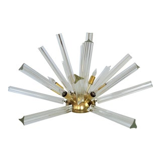 Venini Mid-Century Modern Italian Venetian Glass & Brass Sputnik Table Lamp Millennial