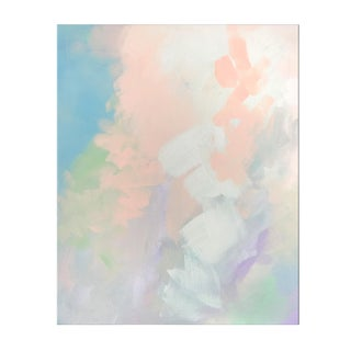 Abstract Pastel Painting - Peach Pair No.1