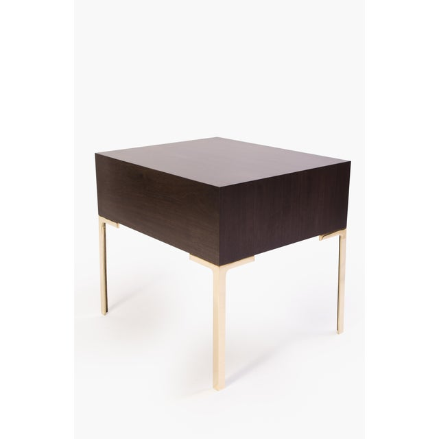 Astor Nightstands in Contrasting Ebony & Ivory by Montage - Pair - Image 4 of 11