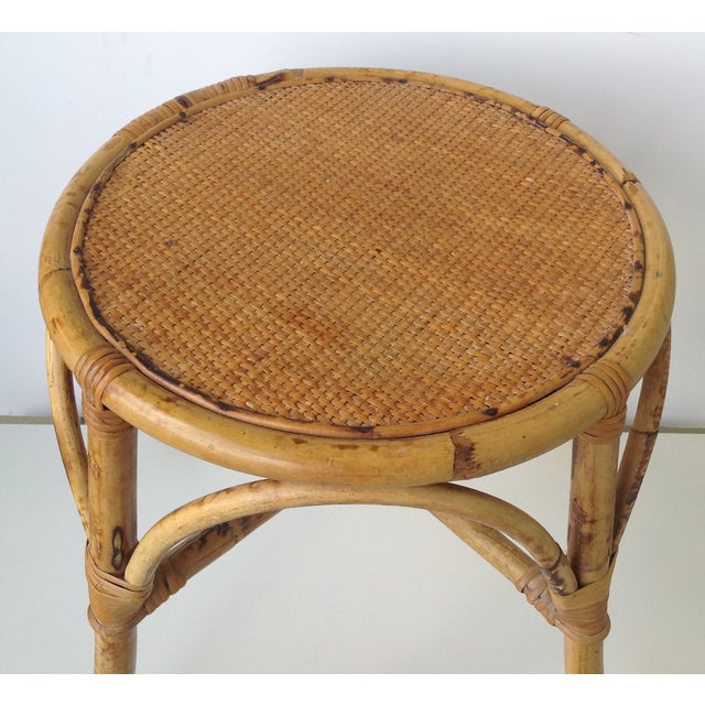 English Bamboo Round Occasional Table - Image 6 of 11