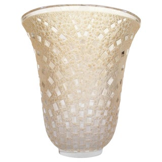 "1935 Rene Lalique ""Damiers"" Trumpet Vase"