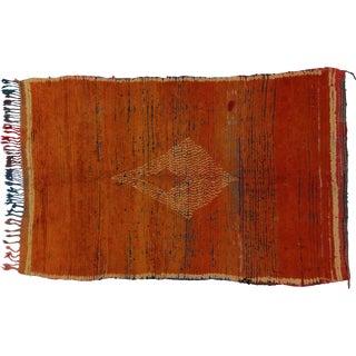 Vintage Berber Moroccan Rug ,4'6x6'9