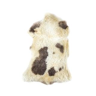 "Aydin Premium Handmade Sheepskin Rug, Seat Cushion, Black-White, 1'8"" X 3'0"""