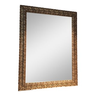 "Custom Silver Wood Rectangular Mirror - 36"" x 48"""