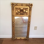 Image of Empire Style Gilt Trumeau Mirror