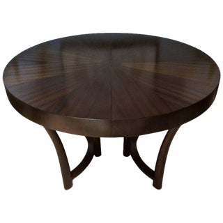 T. H. Robsjohn-Gibbings Walnut Dining Table, with One Leaf for Widdicomb