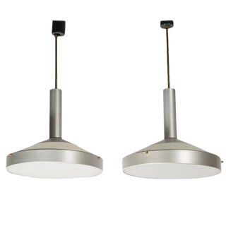 Pair of Two Pendant Lamps by Stilux