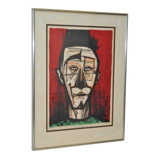 "Bernard Buffet ""Clown with Fez"" Lithograph c.1968"