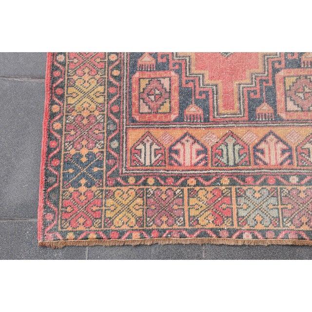 "Vintage Turkish Handmade Anatolian Wool Carpet - 3'6"" X 5'6"" - Image 6 of 7"