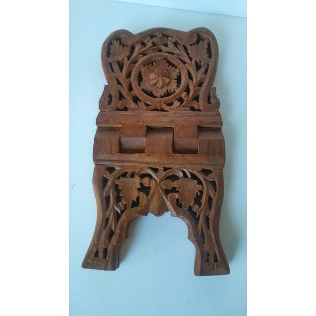 Vintage Carved Wood Book Stand - Image 5 of 7