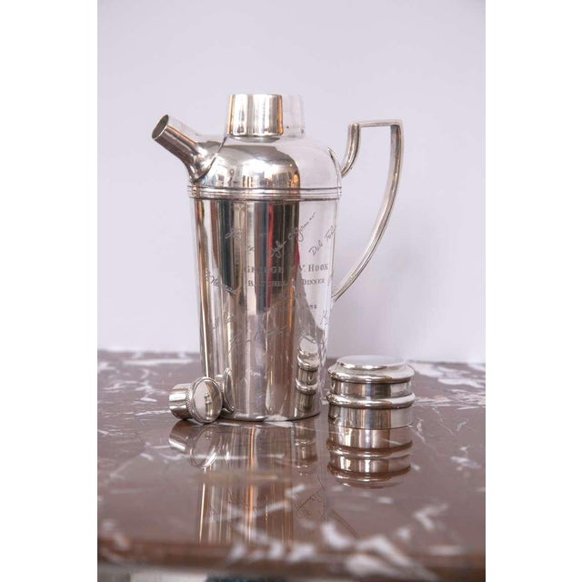Image of Collectors Cocktail Shaker, Dated Paris,1952