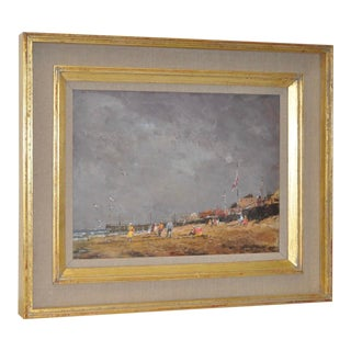 "1972 ""Southend-on-Sea"" England Oil Painting by John Harwood"