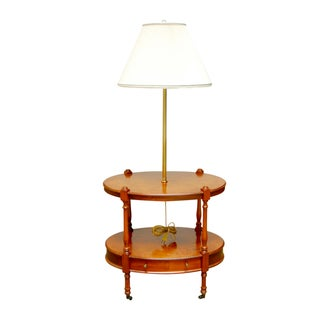 Frederick Cooper Two-Tier Side Table with Lamp