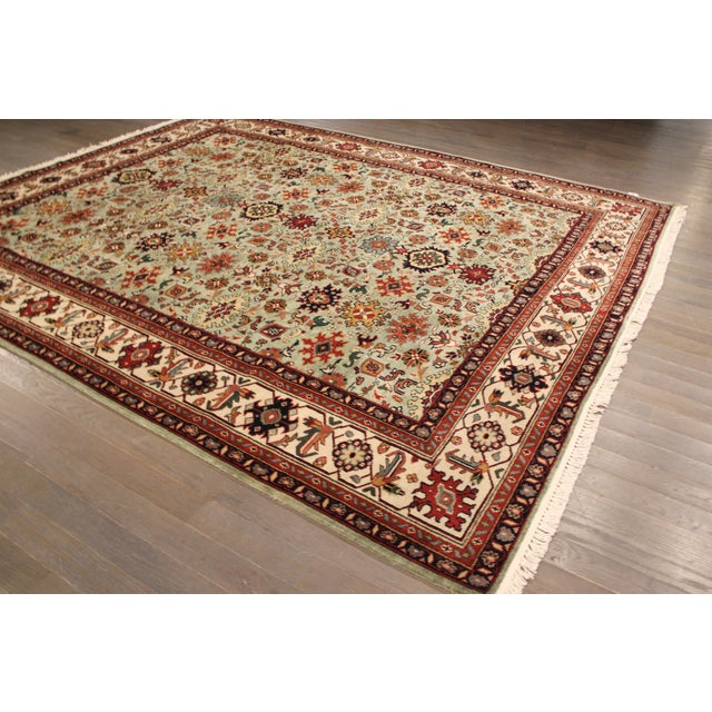 "Hand-Knotted Mahal Wool Rug - 8' x 9'8"" - Image 4 of 5"