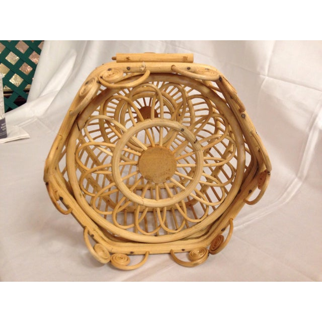 Vintage Bamboo Bird Cage - Image 6 of 6