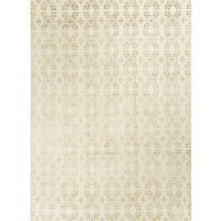 Modern Contemporary Hand Knotted Wool Rug - 9′ × 12′