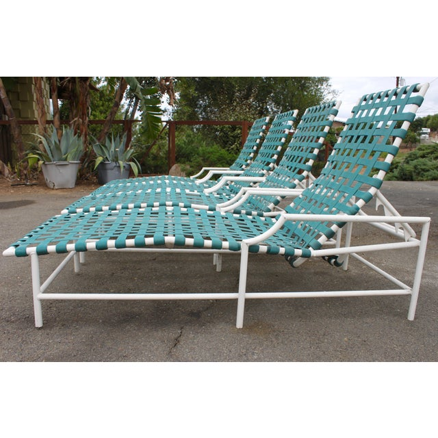 Mid-Century Tropitone 'Cantina' Reclining Patio Lounges - Set of 4 - Image 8 of 11