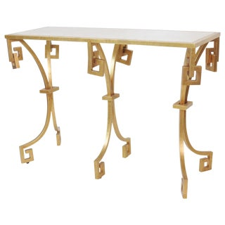 Jonathan Charles Modern Design Gilt Painted Console Table
