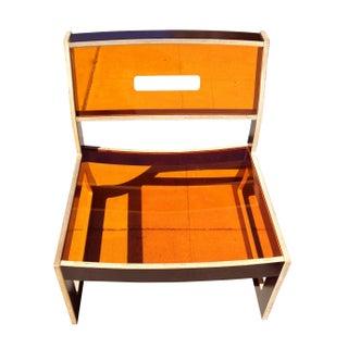 Ilan Dei Design Orange Acrylic Chair