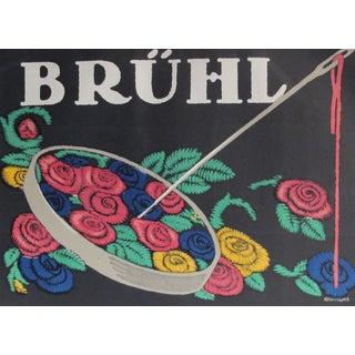 Original 1927 German Bruhl Lithographic Poster