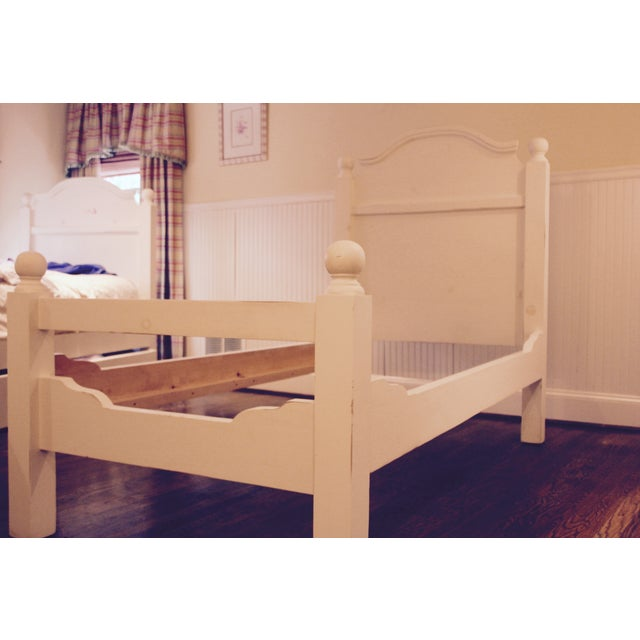 White French Farmhouse Twin Beds A Pair Chairish