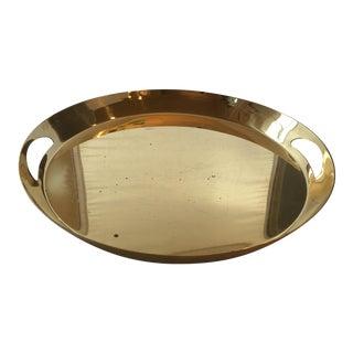 Modern Round Brass Tray