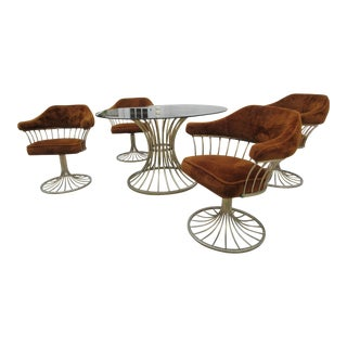 Warren Platner Style Dining Table & Chairs - Set of 5