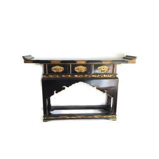 1930's Chinese Temple Table Chinoiserie Console