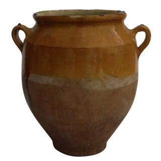 French Handled Pottery Vase