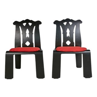 Robert Venturi Chippendale Side Chairs for Knoll International - A Pair