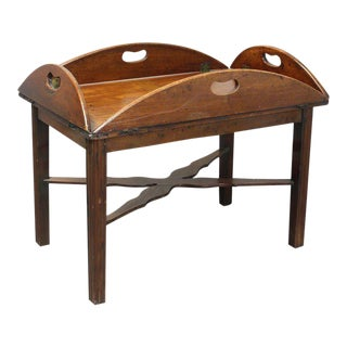 19th Century English Butler's Tray Table