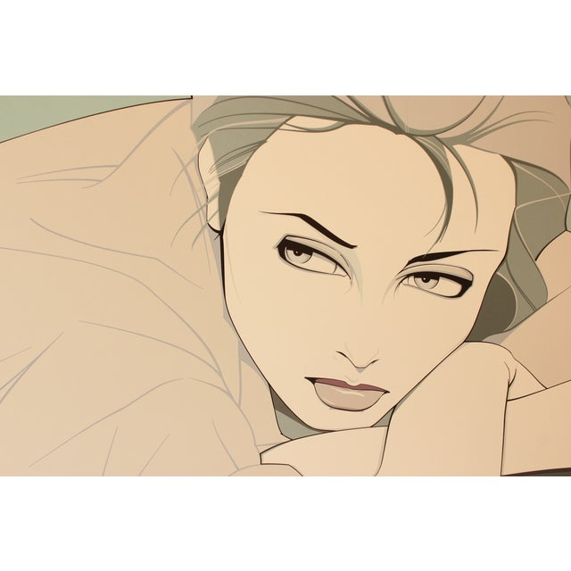 Image of 'Gray Lady' Print by Patrick Nagel