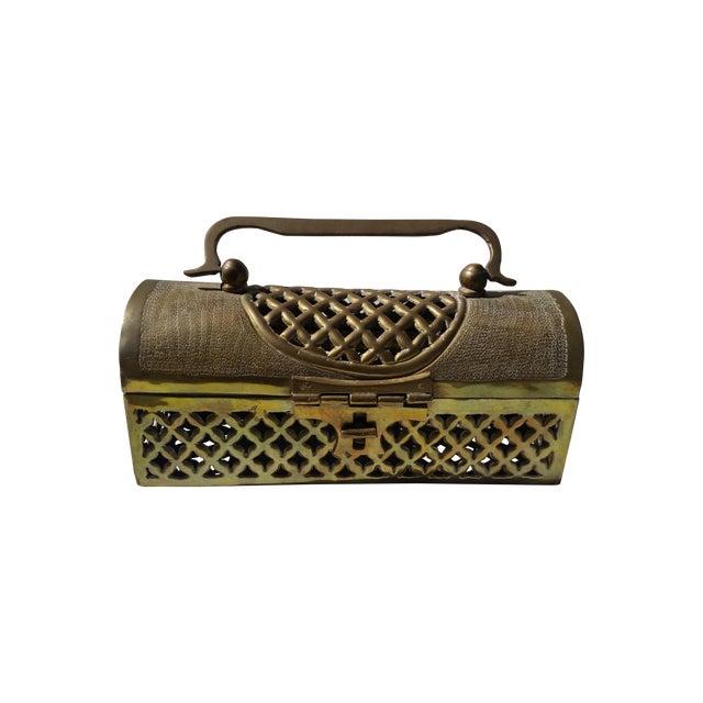 Vintage Long Brass Cricket Box - Image 1 of 5