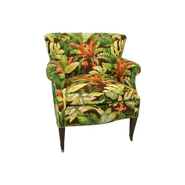 Tropical Barkcloth Chairs - A Pair - Image 7 of 7