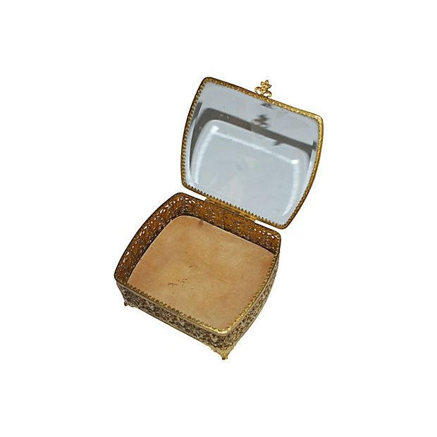 Hollywood Regency Gold Filigree Jewelry Box - Image 3 of 3