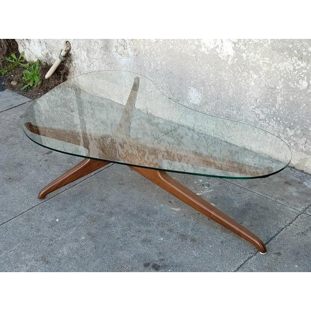 Mid-Century Style Boomerang Coffee Table